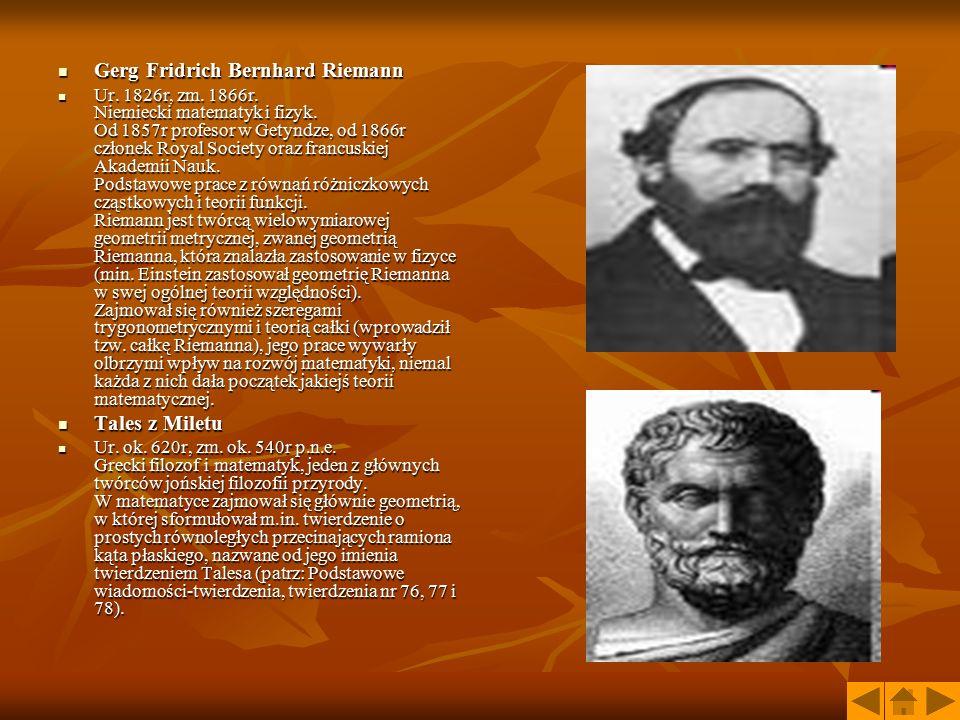 Gerg Fridrich Bernhard Riemann