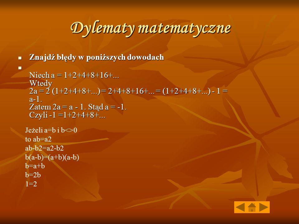 Dylematy matematyczne