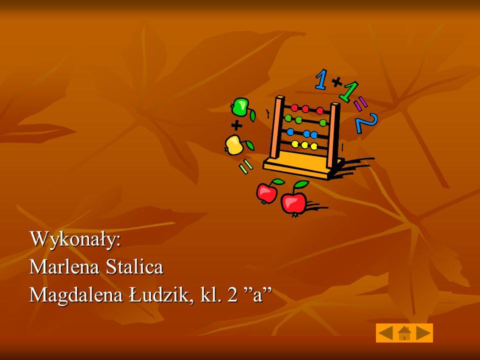 Wykonały: Marlena Stalica Magdalena Łudzik, kl. 2 a