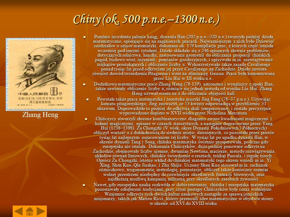 Chiny (ok. 500 p.n.e.–1300 n.e.) Zhang Heng