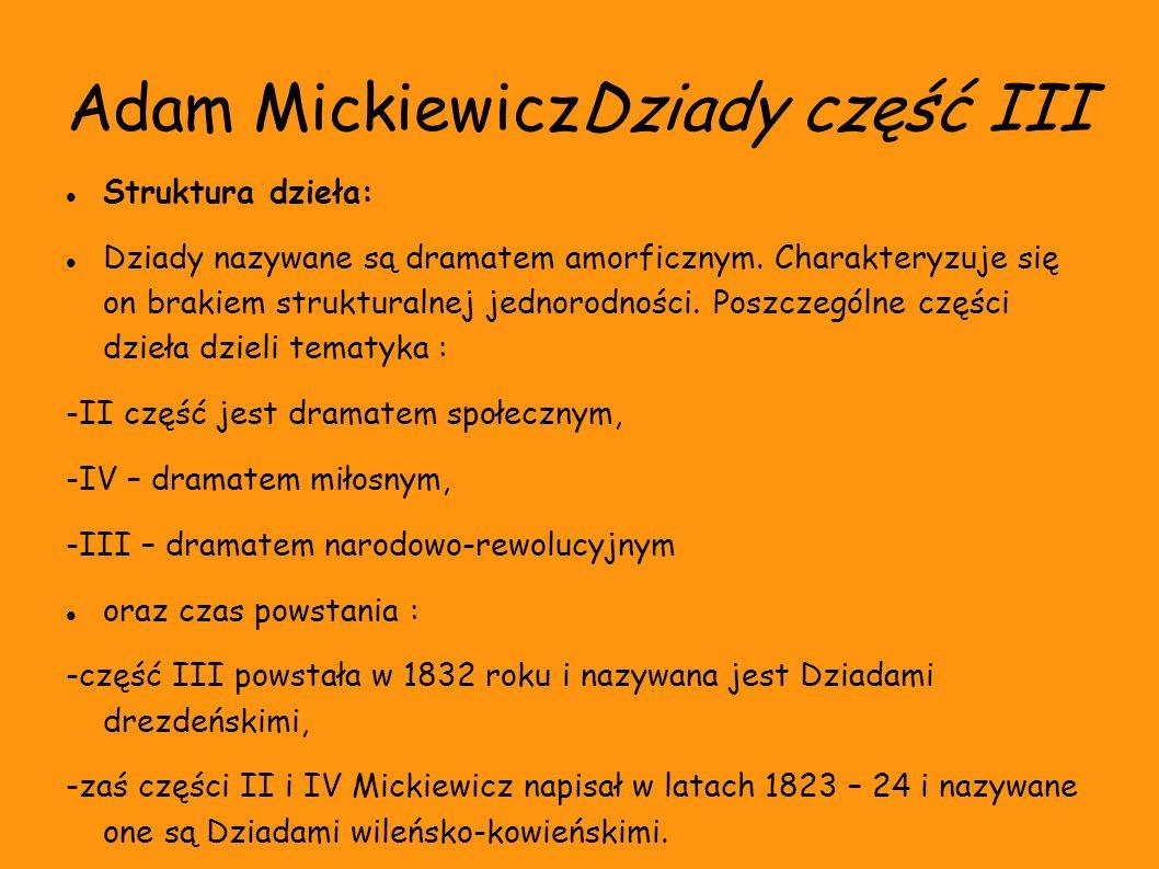 Adam MickiewiczDziady część III