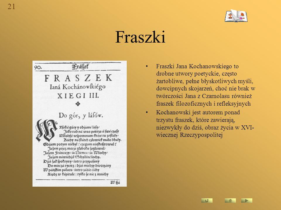 21 Fraszki.