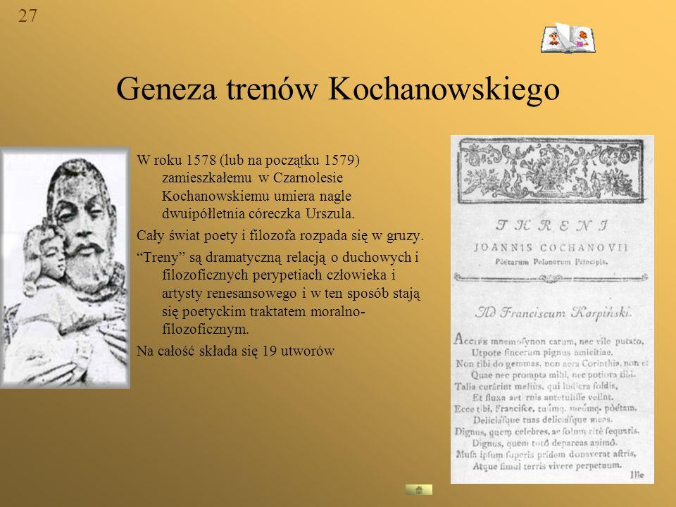 Geneza trenów Kochanowskiego