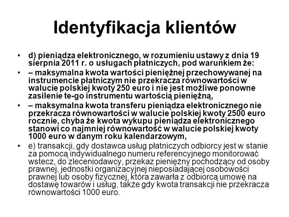 Identyfikacja klientów