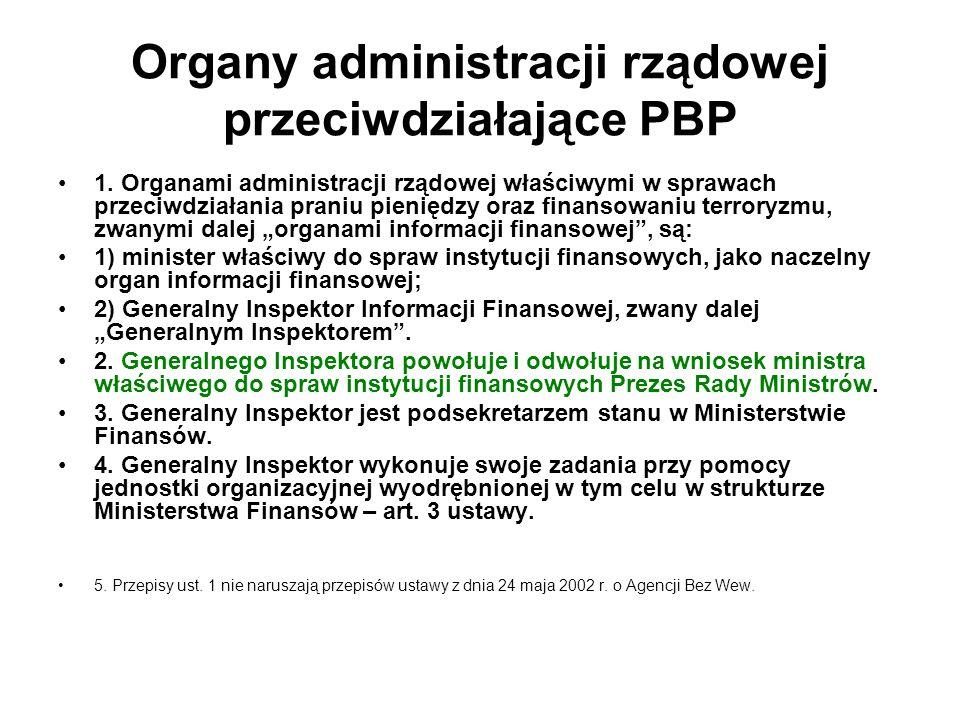 Organy administracji rządowej przeciwdziałające PBP