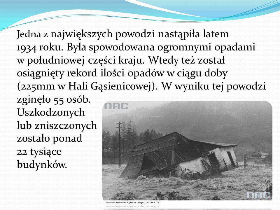 Jedna z największych powodzi nastąpiła latem 1934 roku