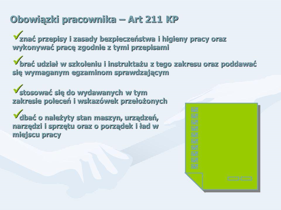 Obowiązki pracownika – Art 211 KP