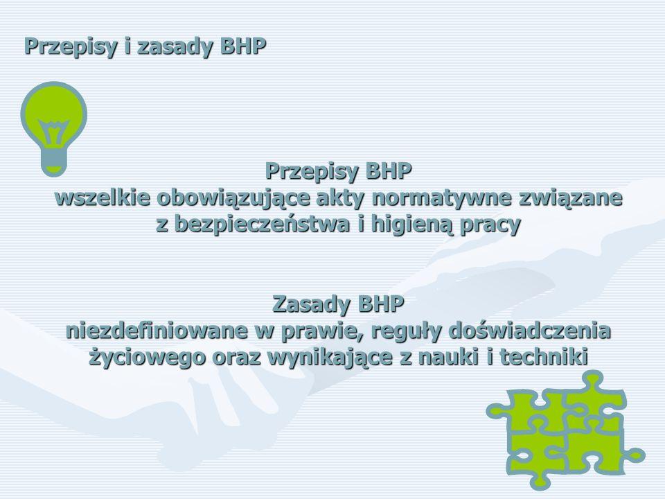 Przepisy i zasady BHP