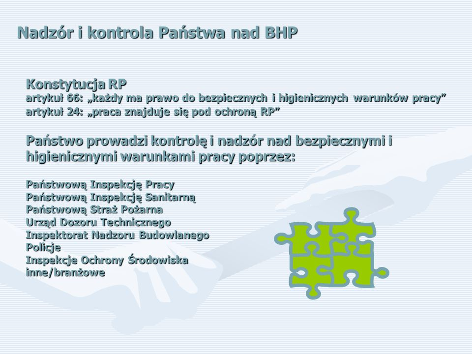 Nadzór i kontrola Państwa nad BHP