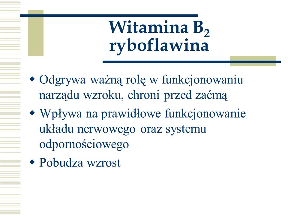 Witamina B2 ryboflawina