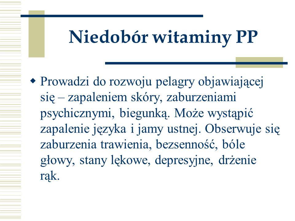 Niedobór witaminy PP