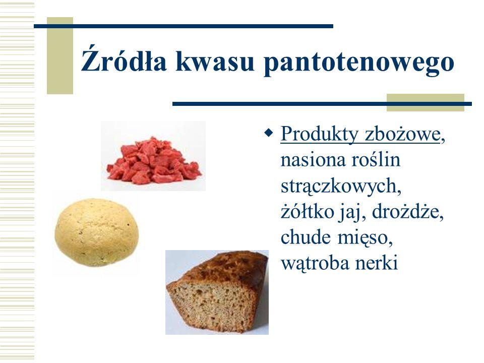Źródła kwasu pantotenowego