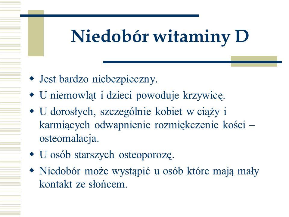 Niedobór witaminy D Jest bardzo niebezpieczny.