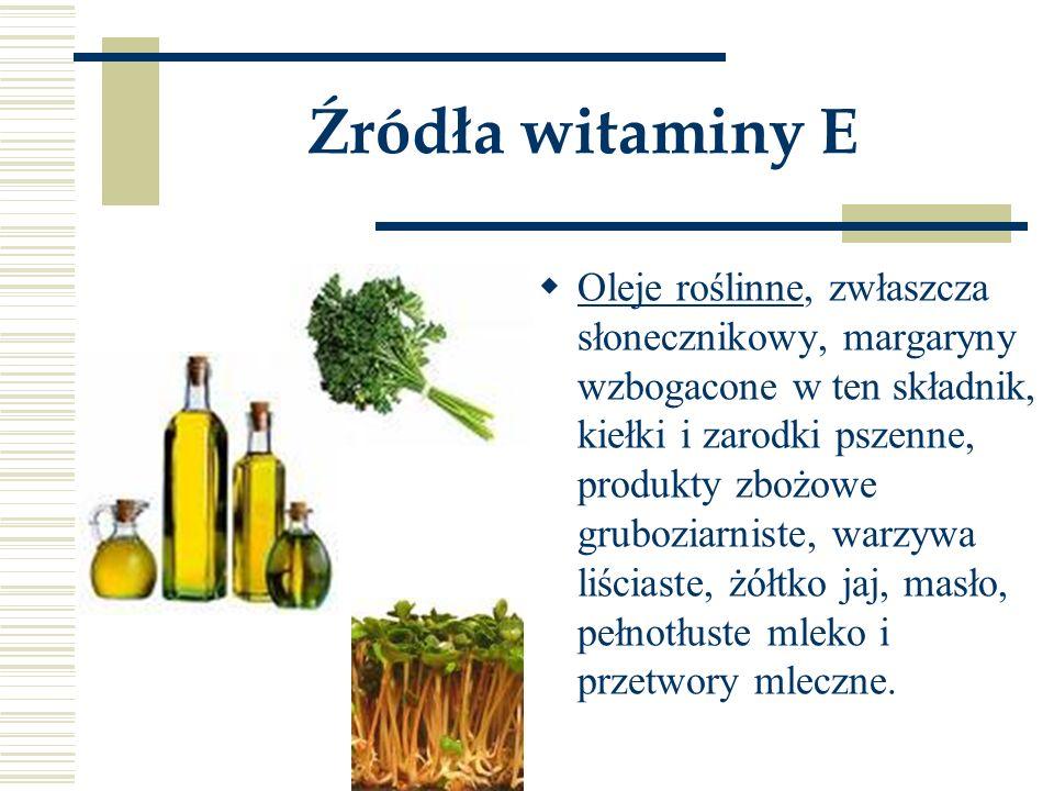 Źródła witaminy E