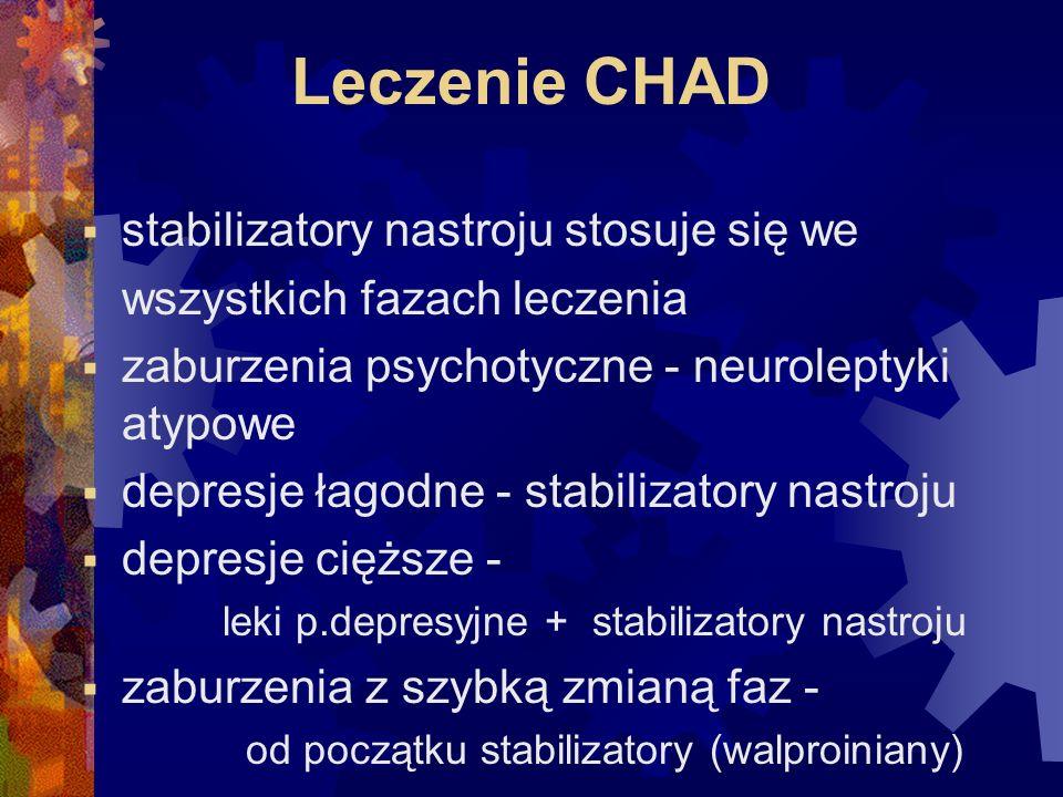 Leczenie CHAD stabilizatory nastroju stosuje się we