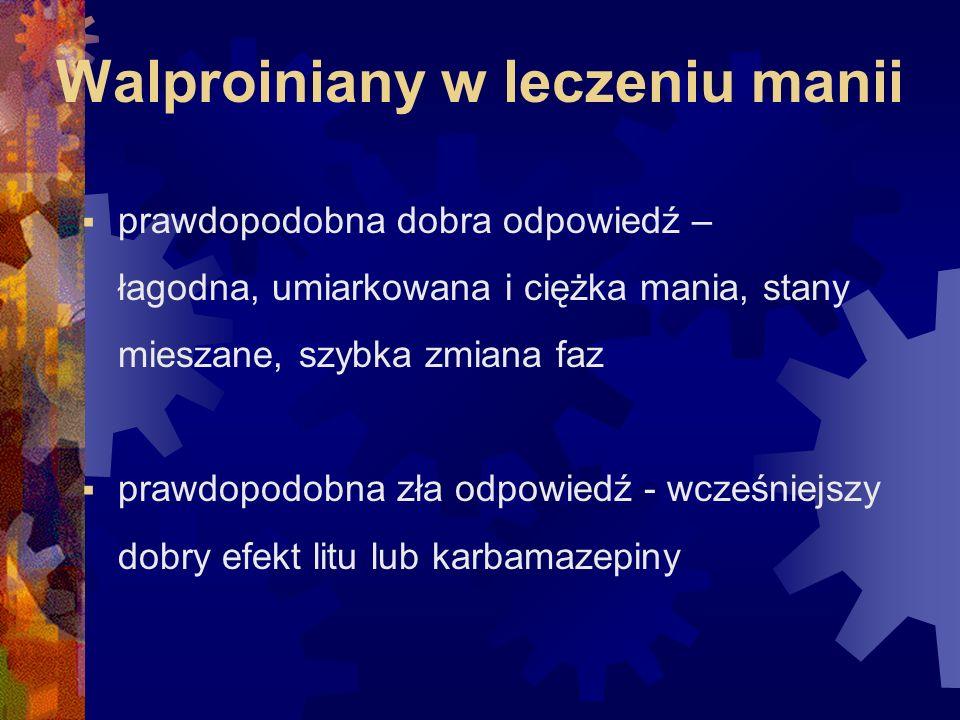 Walproiniany w leczeniu manii