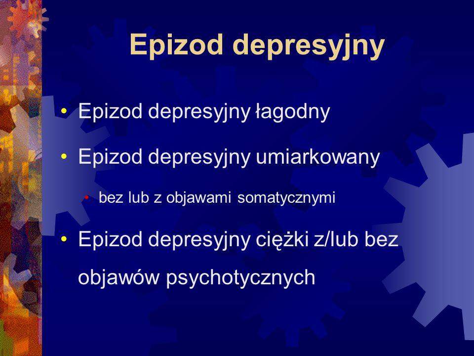 Epizod depresyjny Epizod depresyjny łagodny