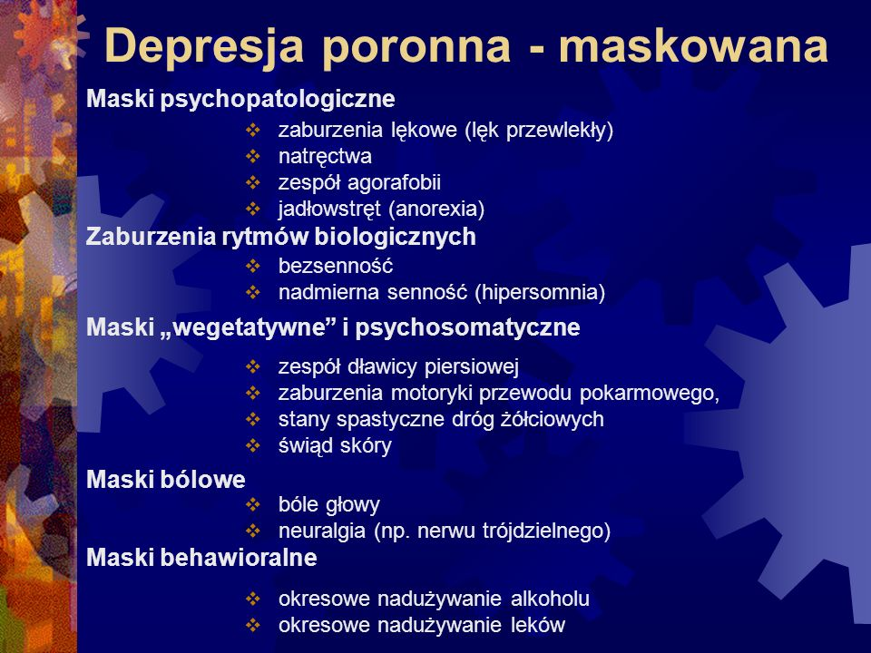 Depresja poronna - maskowana