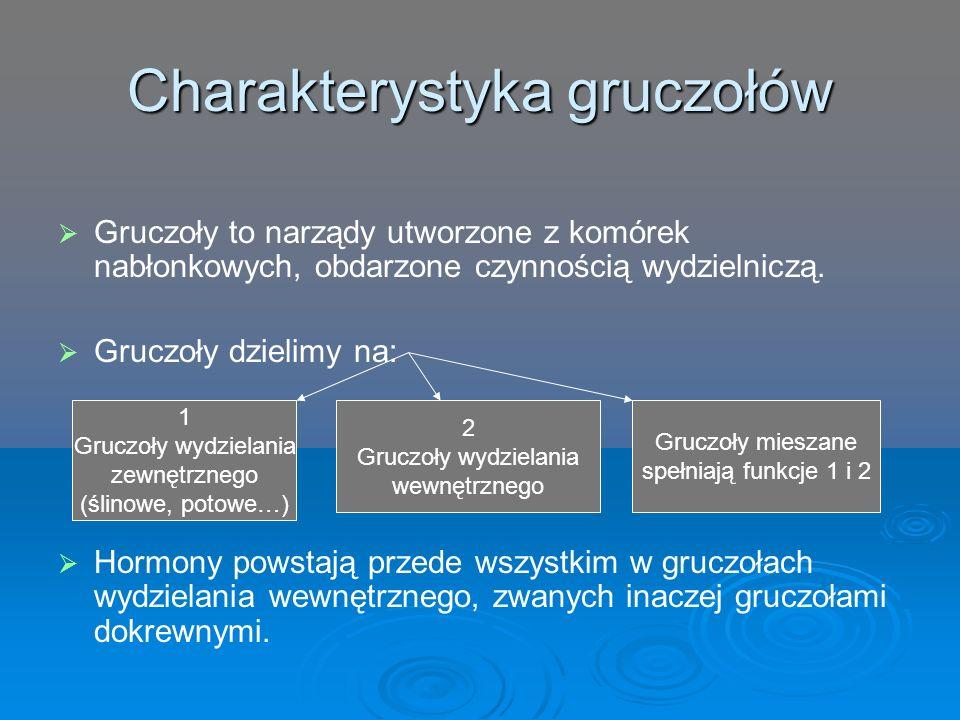 Charakterystyka gruczołów
