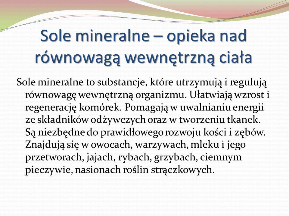 Sole mineralne – opieka nad równowagą wewnętrzną ciała