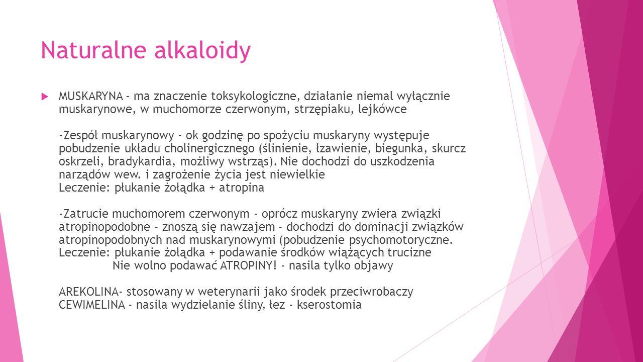 Naturalne alkaloidy