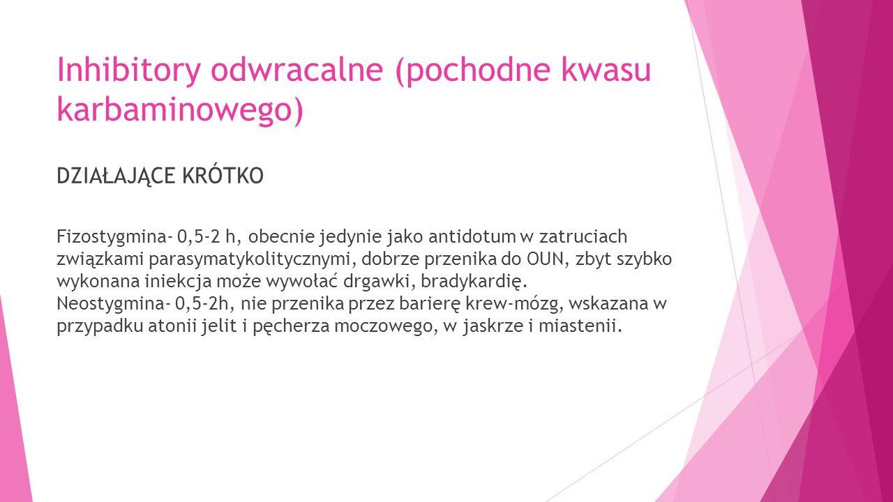 Inhibitory odwracalne (pochodne kwasu karbaminowego)