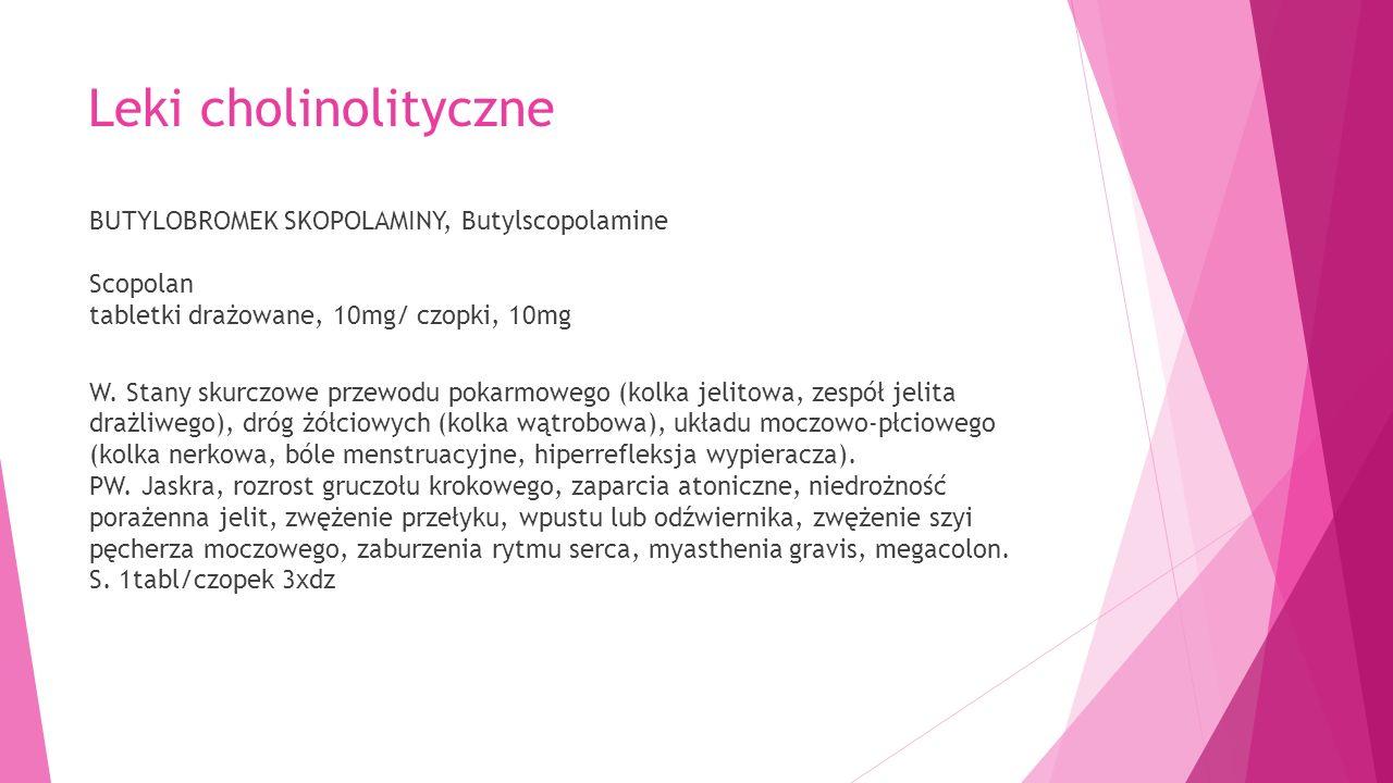 Leki cholinolityczne