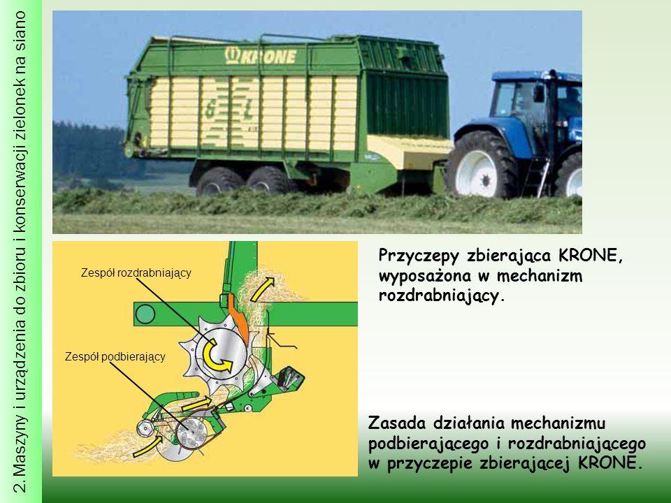 2. Maszyny i urządzenia do zbioru i konserwacji zielonek na siano