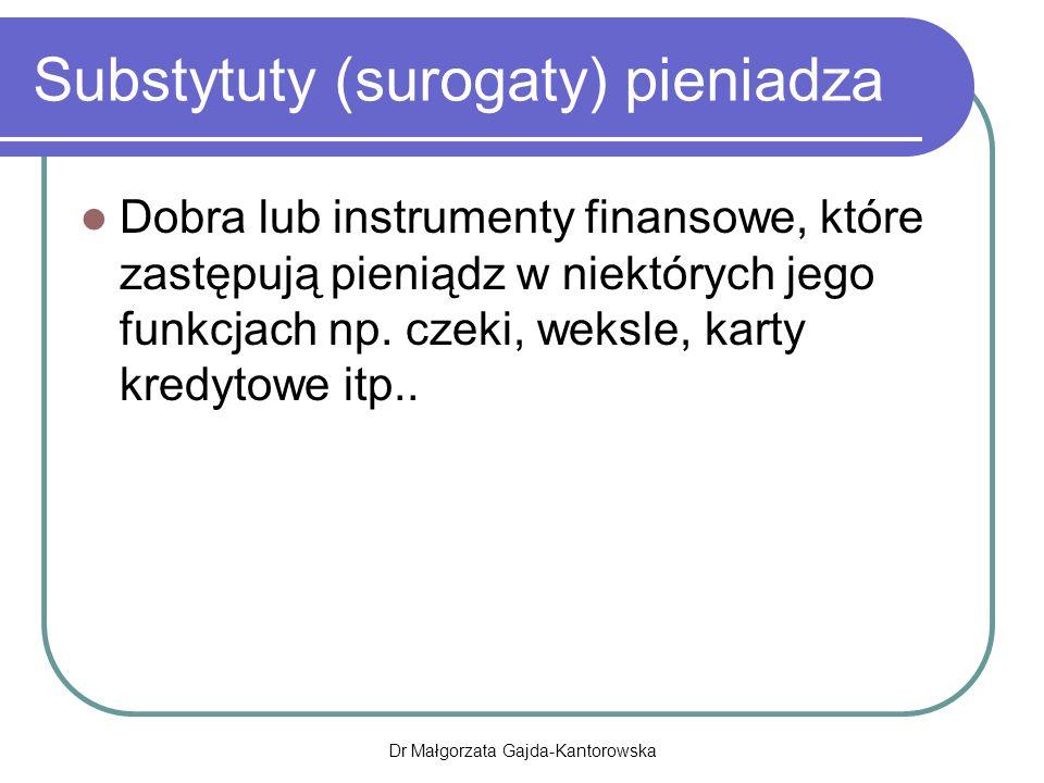 Substytuty (surogaty) pieniadza