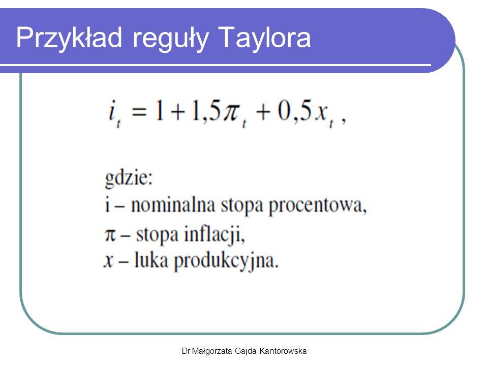 Przykład reguły Taylora