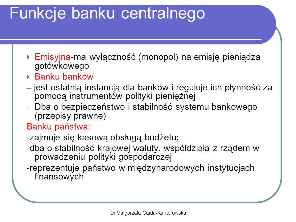 Funkcje banku centralnego