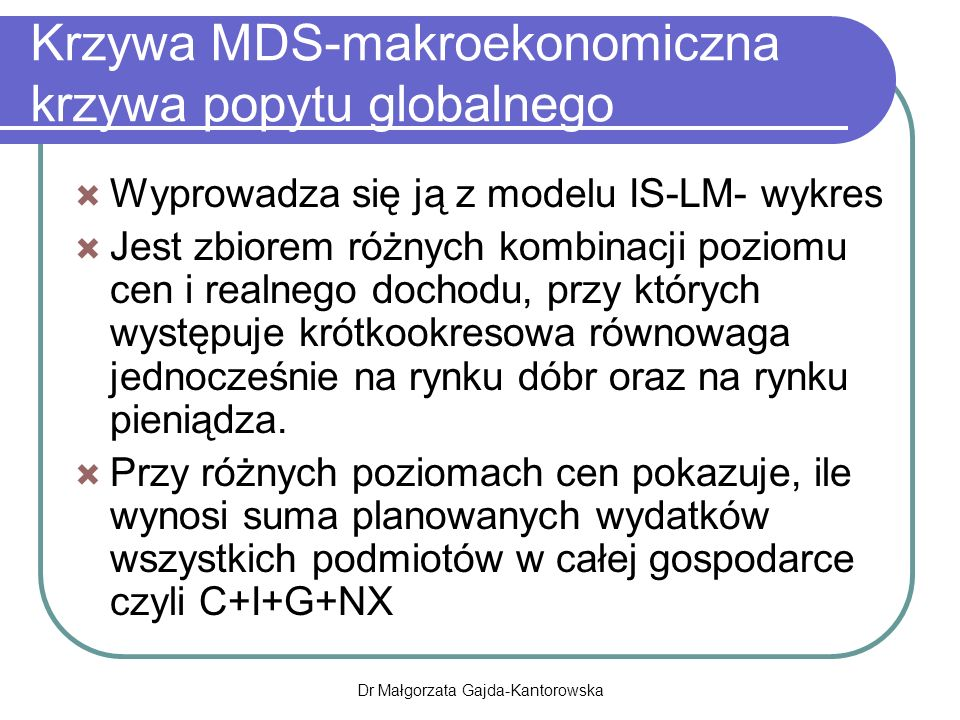 Krzywa MDS-makroekonomiczna krzywa popytu globalnego