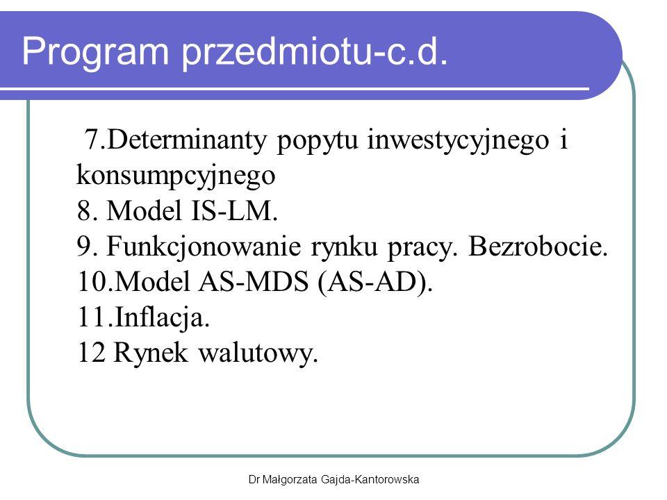 Program przedmiotu-c.d.