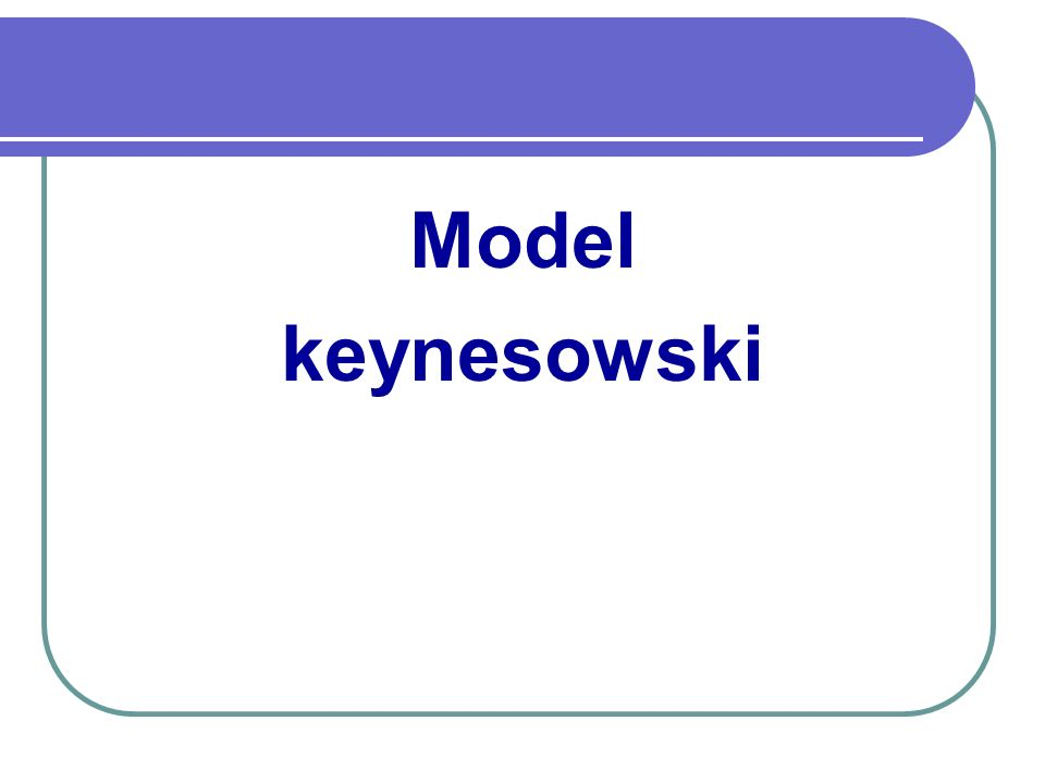 Model keynesowski