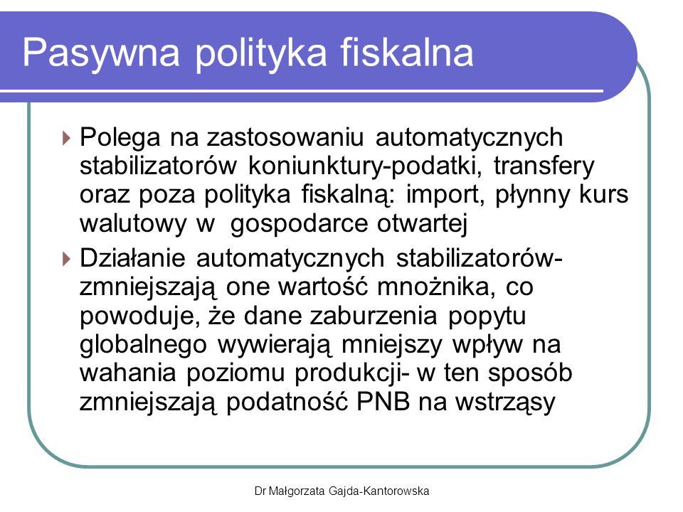 Pasywna polityka fiskalna