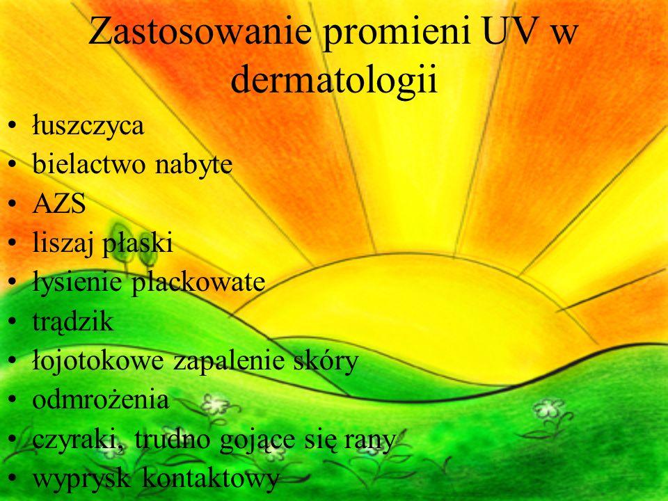 Zastosowanie promieni UV w dermatologii
