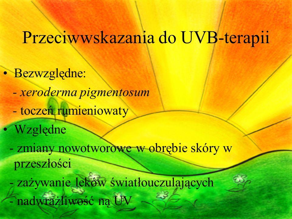 Przeciwwskazania do UVB-terapii