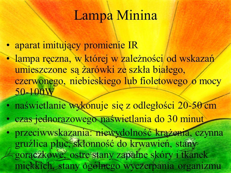 Lampa Minina aparat imitujący promienie IR