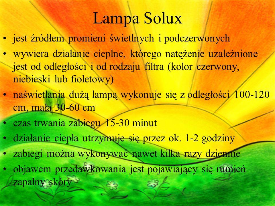 Lampa Solux jest źródłem promieni świetlnych i podczerwonych