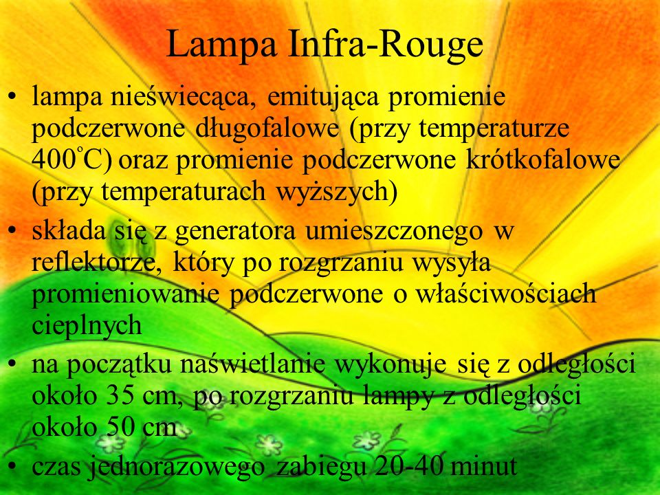 Lampa Infra-Rouge