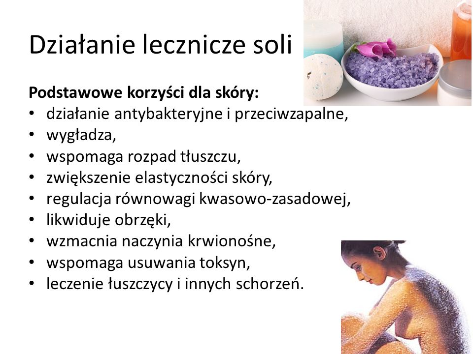 Działanie lecznicze soli