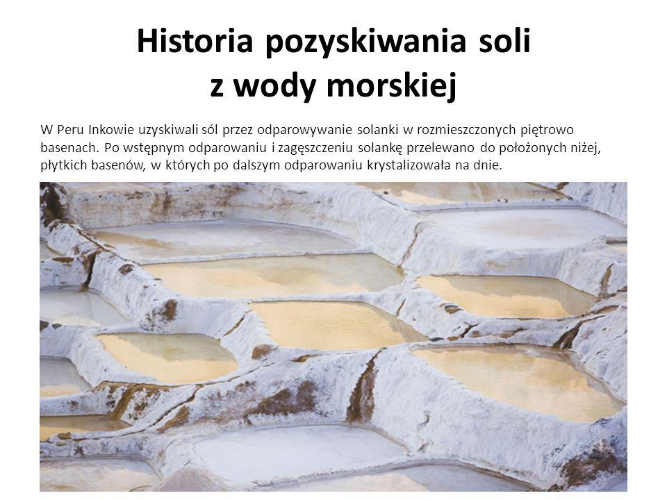 Historia pozyskiwania soli z wody morskiej