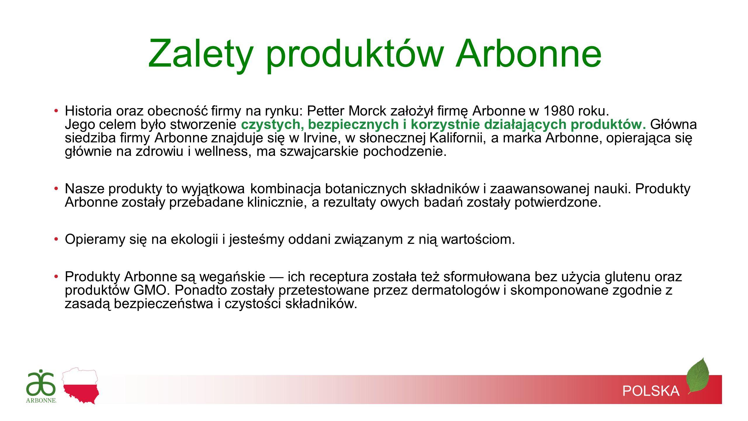 Zalety produktów Arbonne