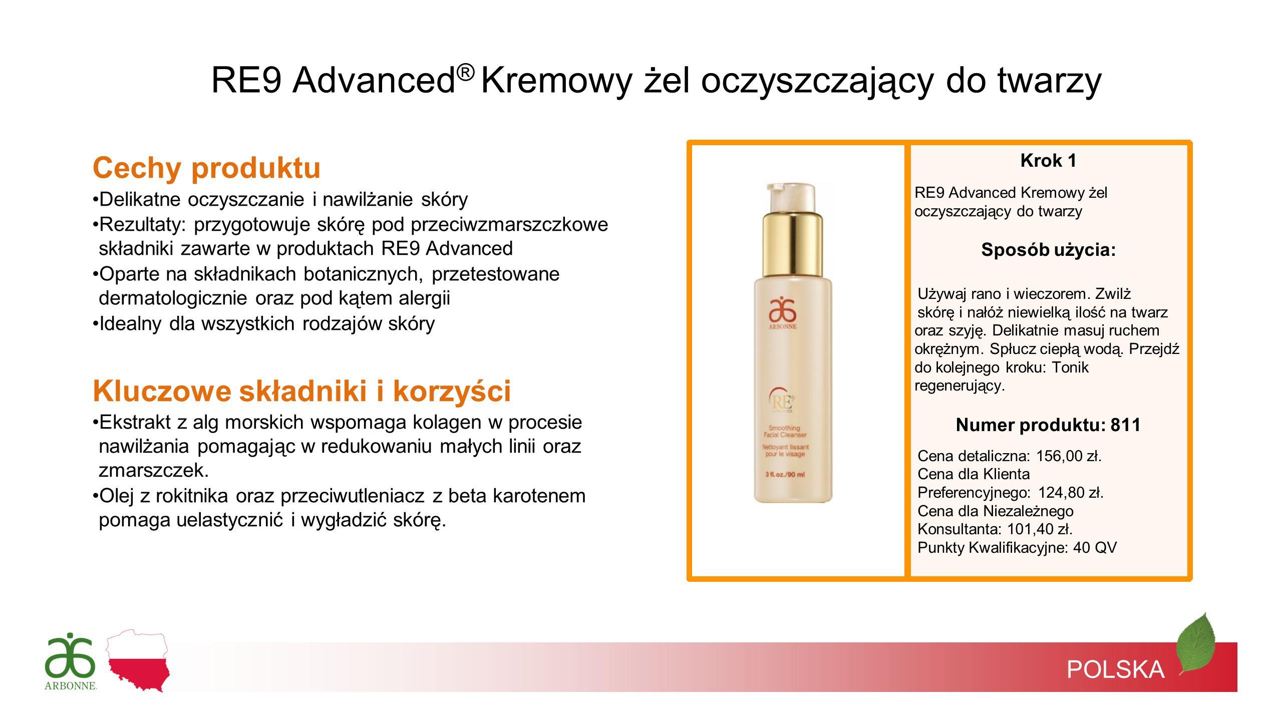 RE9 Advanced® Kremowy żel oczyszczający do twarzy