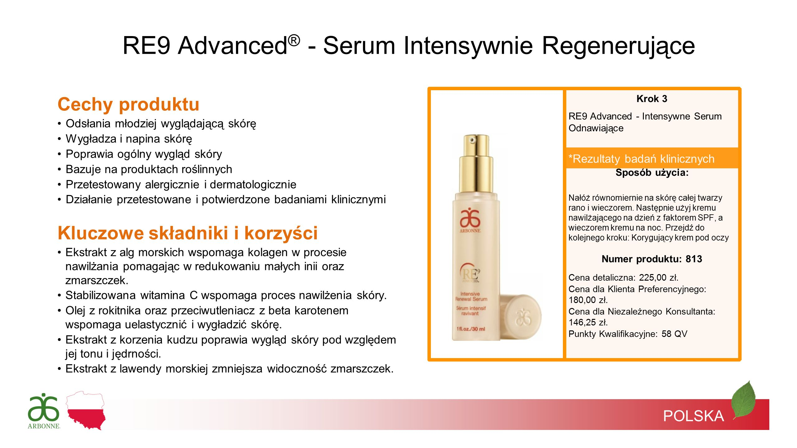 RE9 Advanced® - Serum Intensywnie Regenerujące