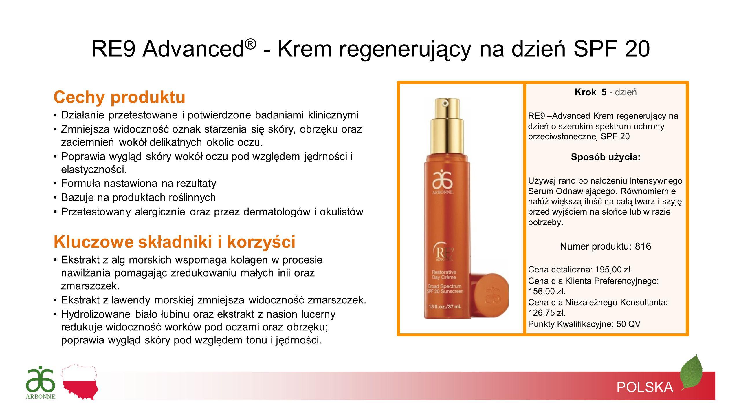 RE9 Advanced® - Krem regenerujący na dzień SPF 20