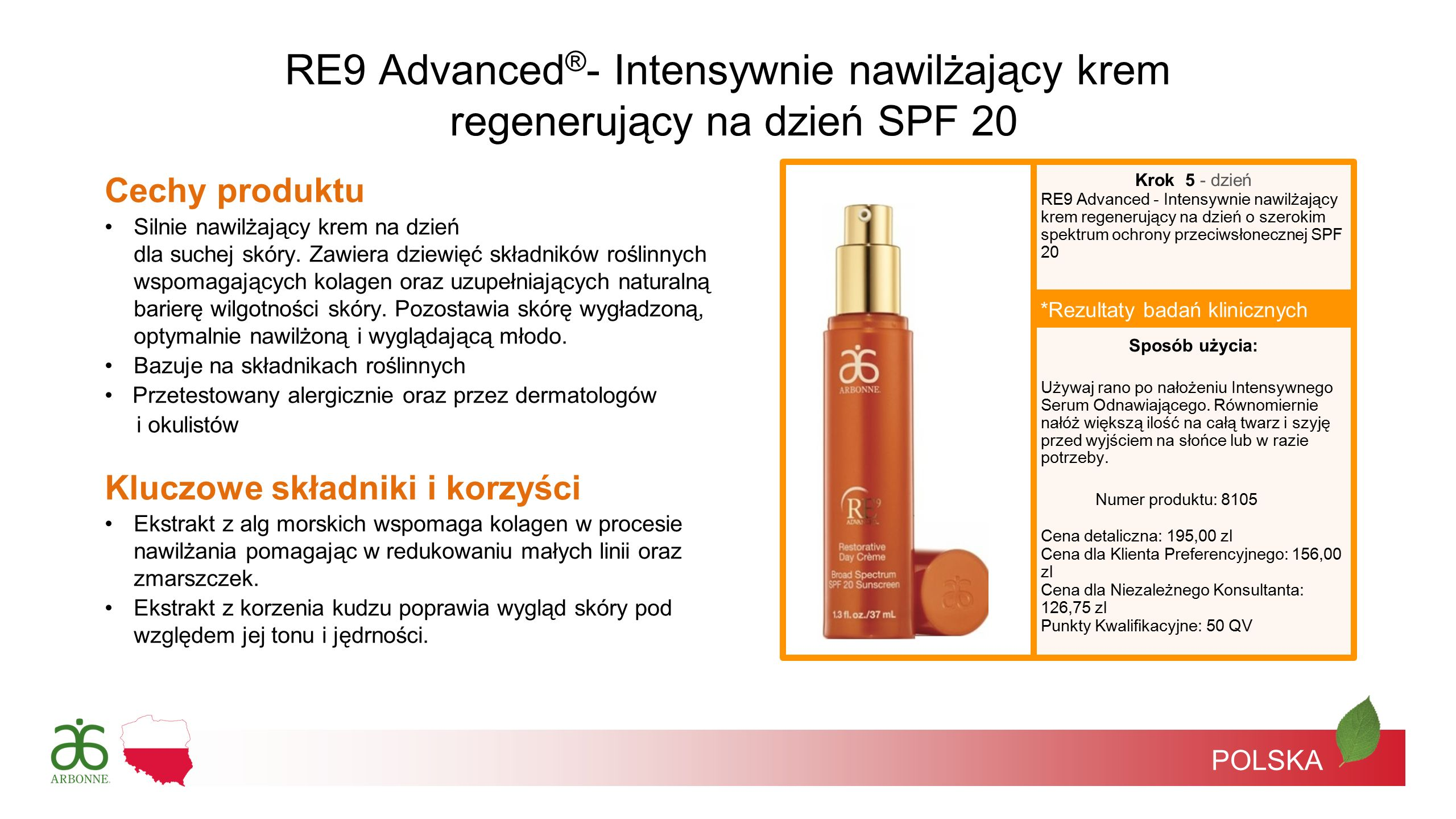 RE9 Advanced®- Intensywnie nawilżający krem