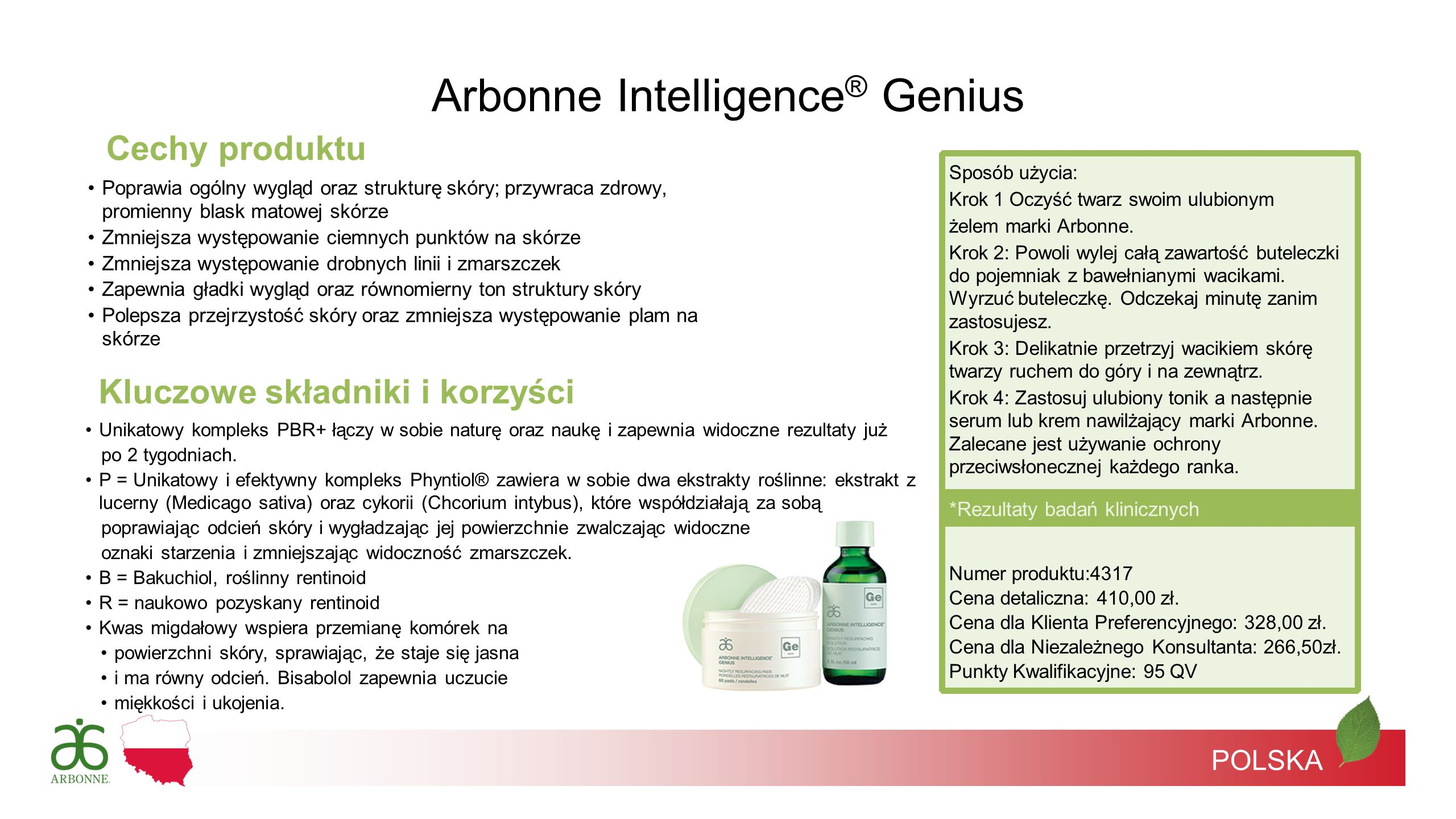 Arbonne Intelligence® Genius