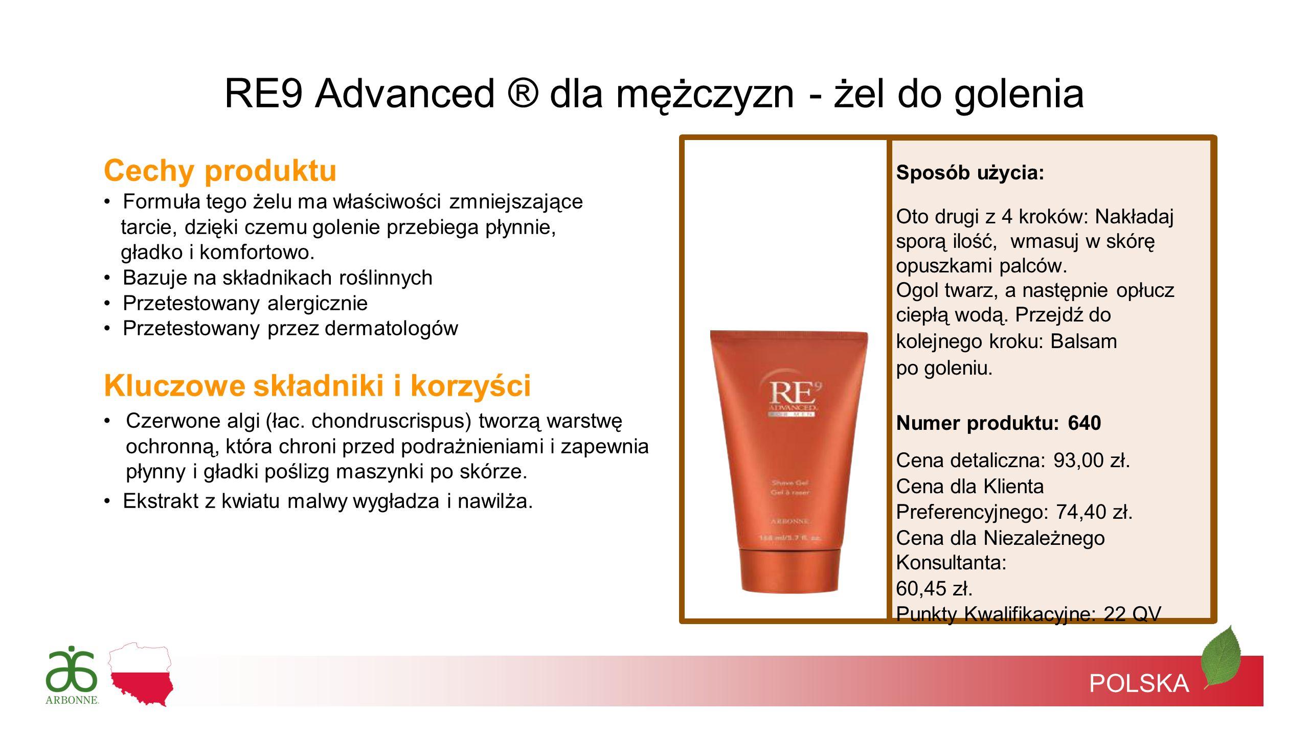 RE9 Advanced ® dla mężczyzn - żel do golenia