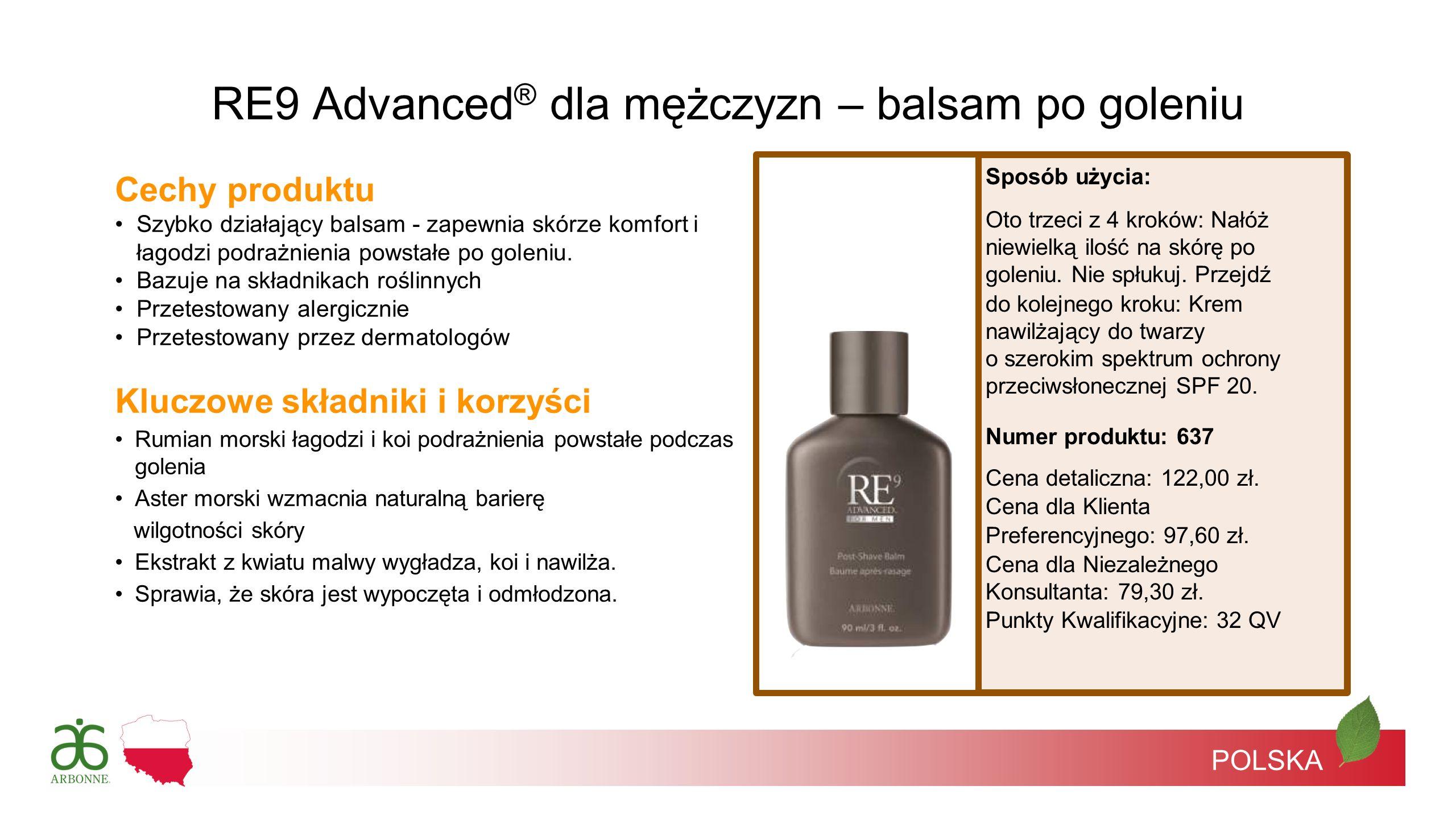 RE9 Advanced® dla mężczyzn – balsam po goleniu